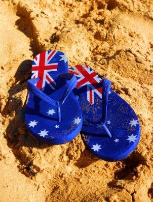 australia day flag to colour