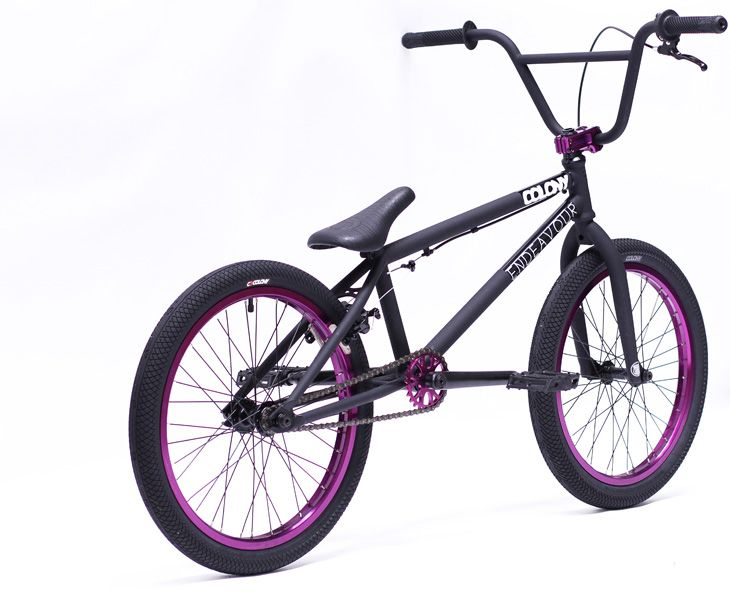 Matte Black And Purple Bmx in Matte Black With Purple