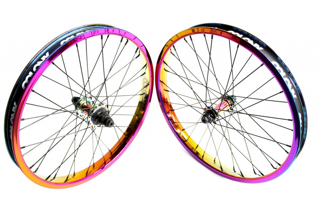 Rainbow Wheel Set Black Spokes 1